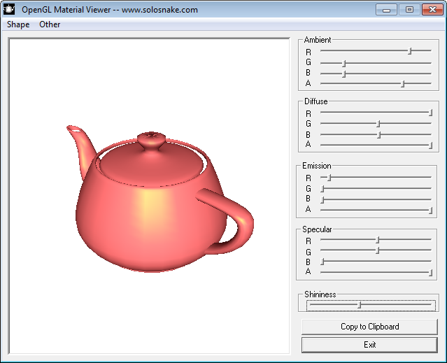 Screenshot of  'Material Viewer'